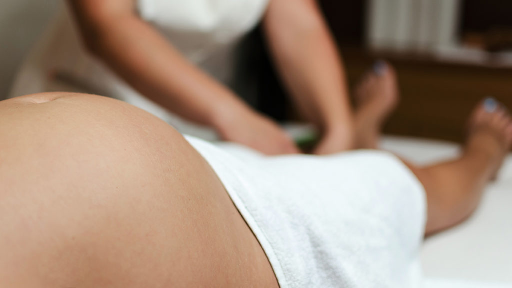 Prenatal massage for relaxation